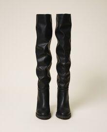Stivali cuissardes con zeppa Nero Donna 202MCT170-05