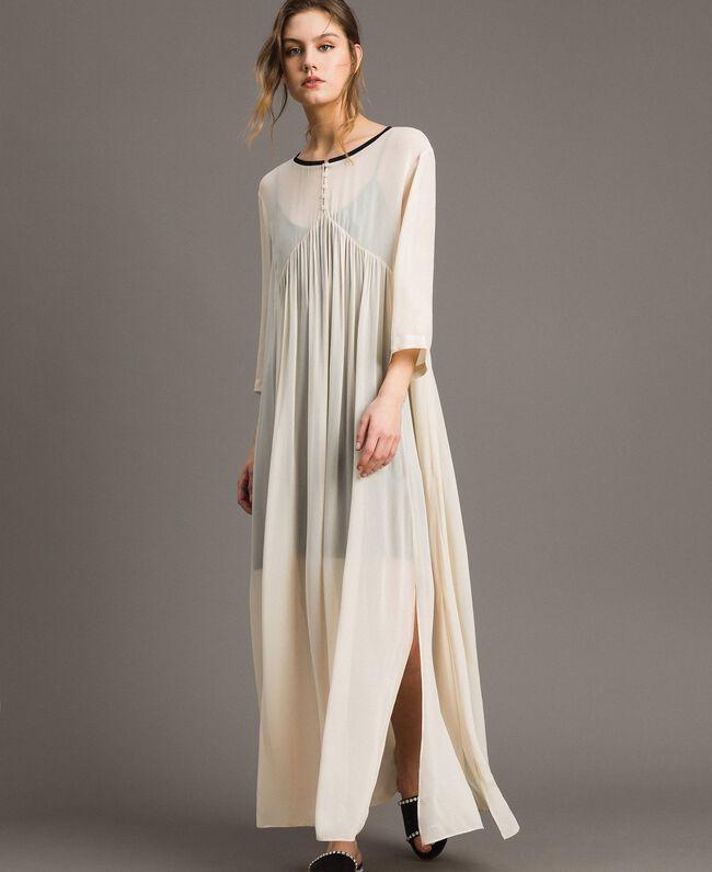 df9222cd1 Vestido largo de georgette Crudo Mujer 191ST2205-01