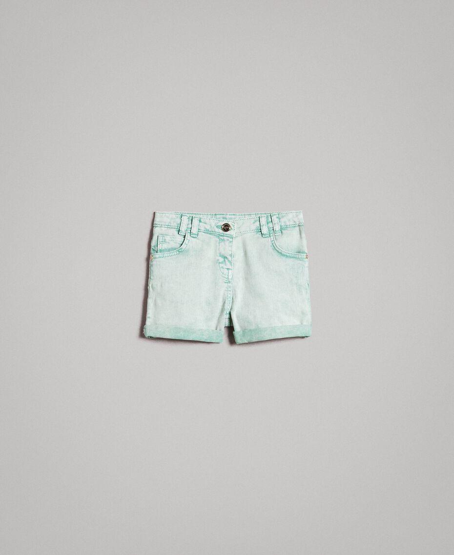 """Bull délavé shorts """"Island Paradise"""" Light Blue Child 191GJ2491-01"""