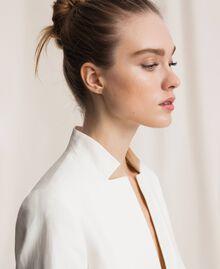 Linen blend blazer White Snow Woman 201TP2252-04