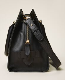 Smooth leather and suede shopper Black Woman 202TB7283-03