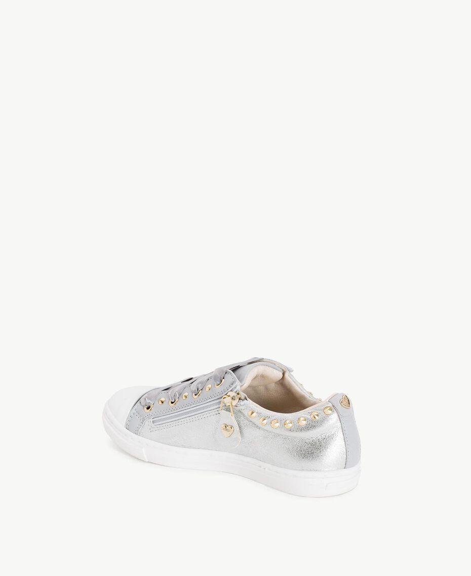 Sneaker mit Nieten Perl Weiß Kind HS88BN-03