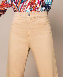 Pantalon cropped avec revers Beige Chocolat au lait Femme 201MT2362-05