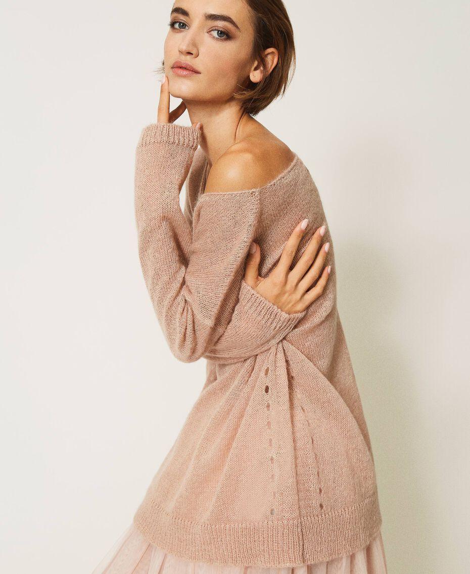 """Mohair blend maxi jumper """"Nude"""" Beige Woman 202MP3200-03"""