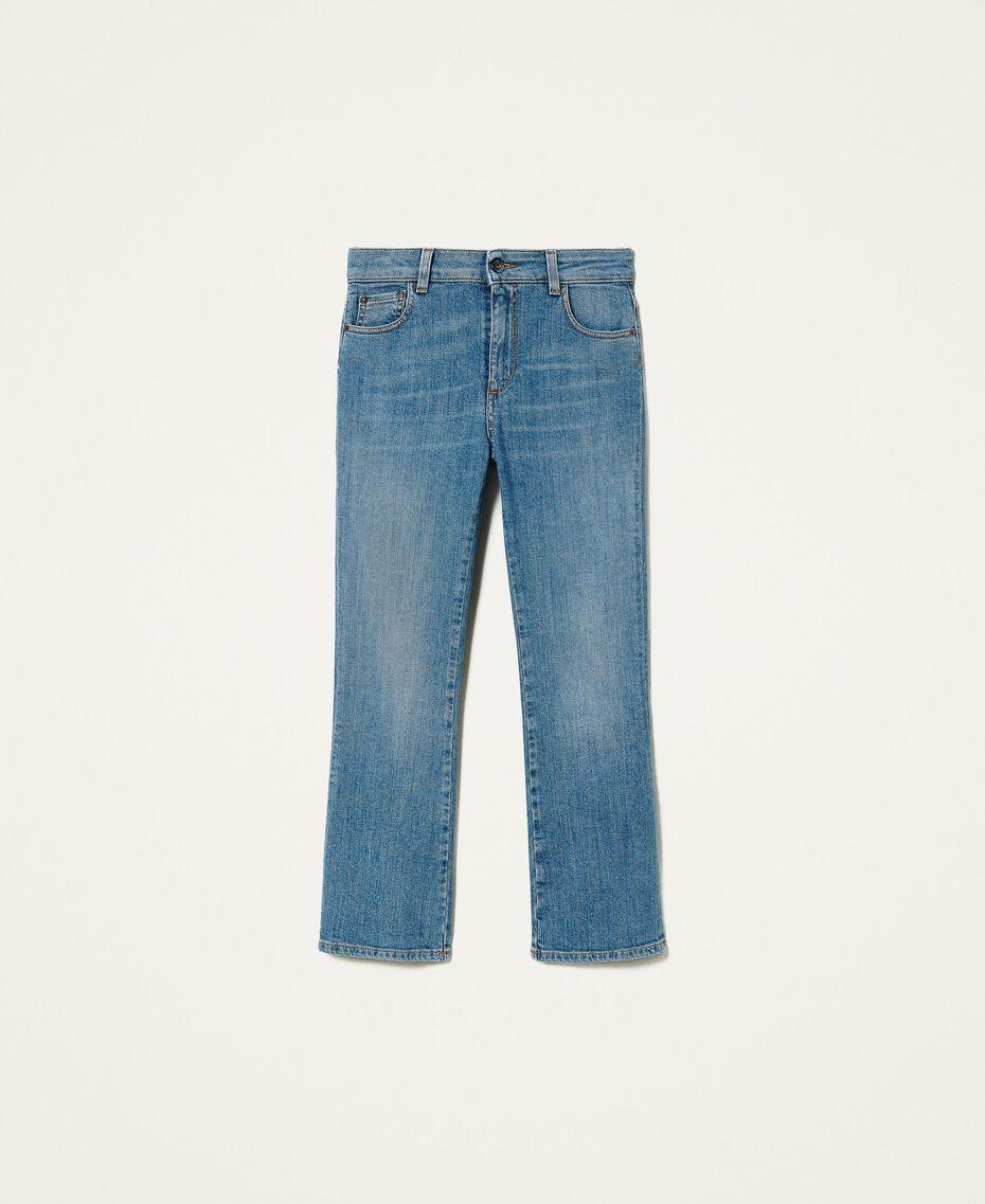 "Jeans flare 'Malachite' Blu ""Denim Medio"" Donna 212AP2212-0S"