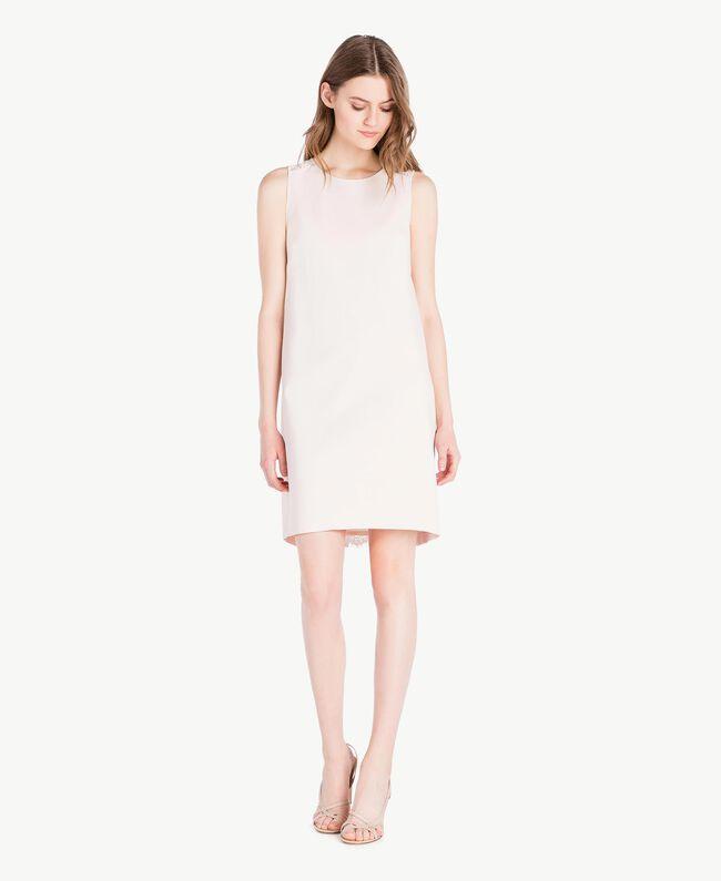 Lace dress Pale Ecru Woman PS828T-01