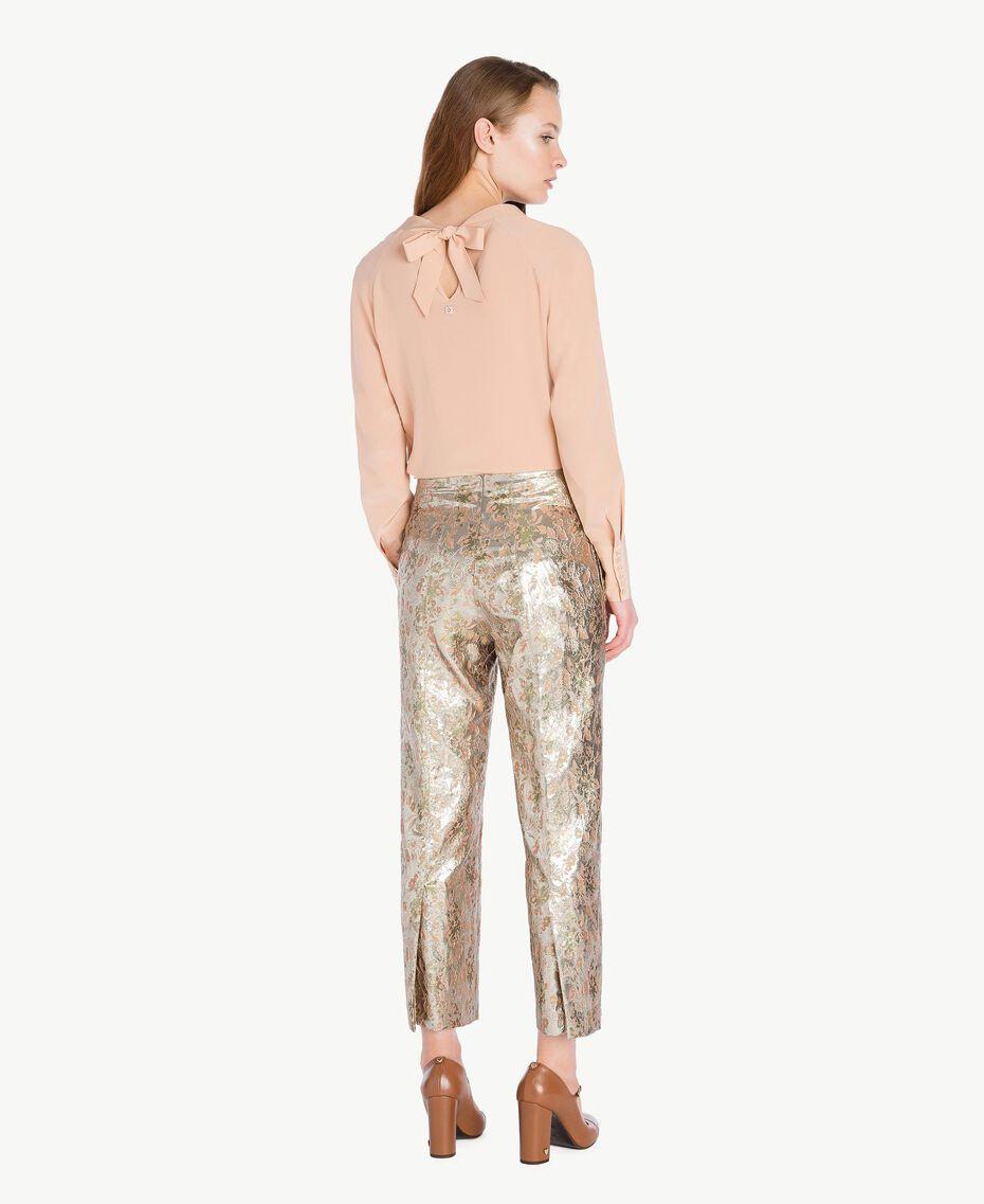 Bluse aus Seide Suntan-Rosa TA72F3-03