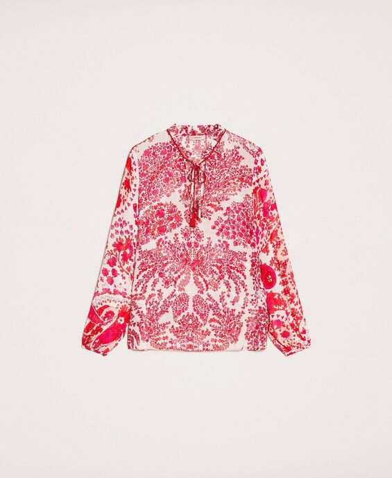 Paisley print georgette blouse