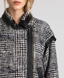 Perfecto en drap Prince de Galles Jacquard Neige / Noir Femme 192TT2100-04