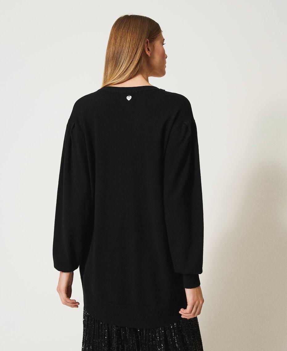 Maxi maglia con fiocco gioiello Bianco Neve Donna 211TQ301A-03