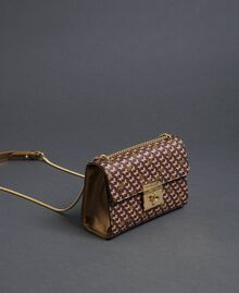 Butterfly print small shoulder bag Dark Gold Butterfly Print Woman 192TO801M-02