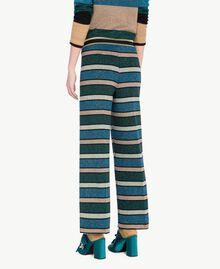 """Pantalone righe lurex Multicolor """"Blu Baltico"""" PA7333-03"""