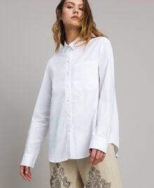Camicia in popeline Bianco Donna 191TT223D-04