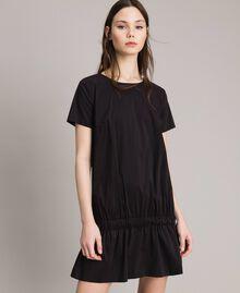 Robe en popeline avec cordon Noir Femme 191MP2191-01
