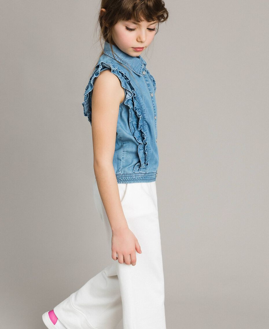 Top en denim souple Jean Doux Enfant 191GJ2561-02
