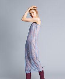 Scalloped lace slip dress Baby Blue Woman SA82HS-03
