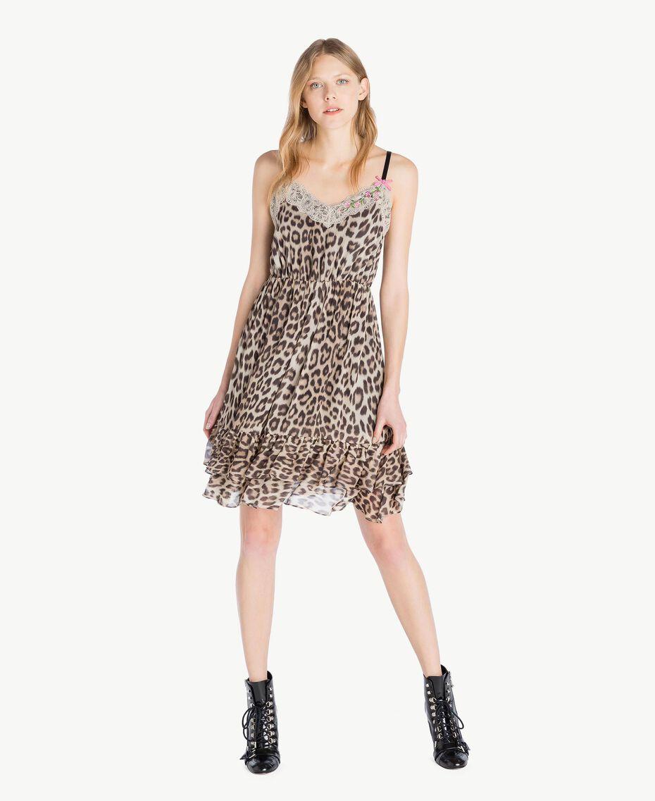 Vestido animal print Estampado Mácula Mujer PS82VA-01