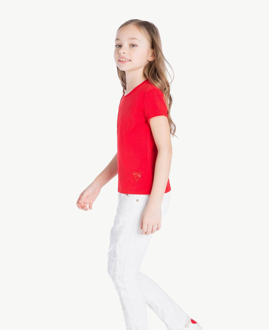 Jersey t-shirt Pomegranate Red Child GS82BA-03