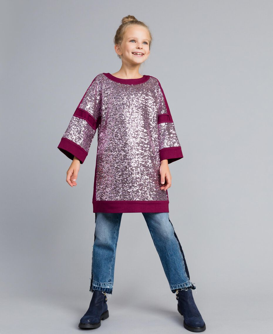 Mini-robe en full paillettes Violet Raisin Doux Enfant GA82PC-0S