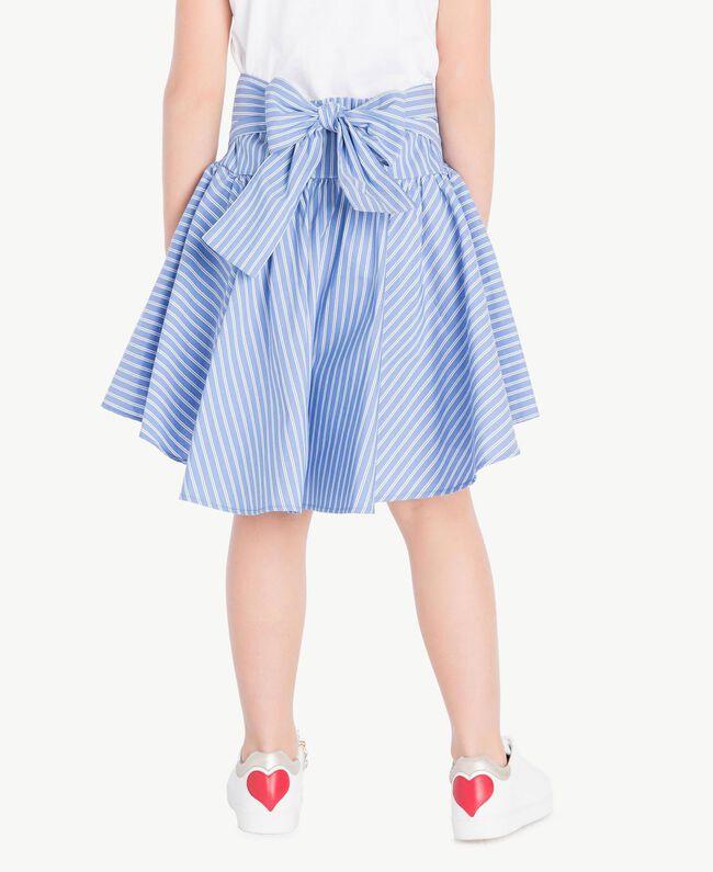 Poplin skirt Infinite Light Blue Jacquard Child GS82LQ-04