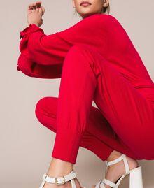 Cashmere blend joggers Black Cherry Woman 201TP3015-05