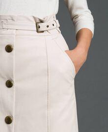 Faux leather midi skirt White Snow Woman 192TT203B-04