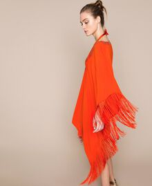 "Kimono-style kaftan with fringes ""Ace"" Orange Woman 201LB2CLL-03"