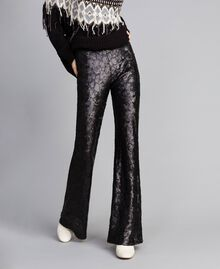 Sequined trousers Black Woman QA8TEF-01