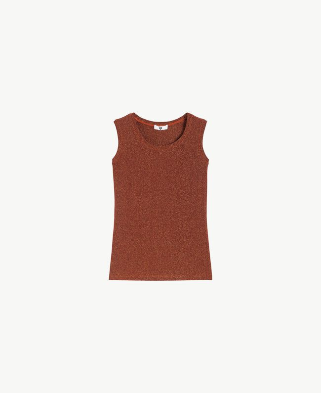 Lurex tank tops Copper / Black IA7WAA-01
