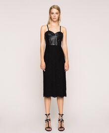 Robe fourreau en dentelle macramé Noir Femme 201MP2233-02