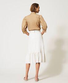 Midi skirt with flounce Vanilla White Woman 211MT2161-03