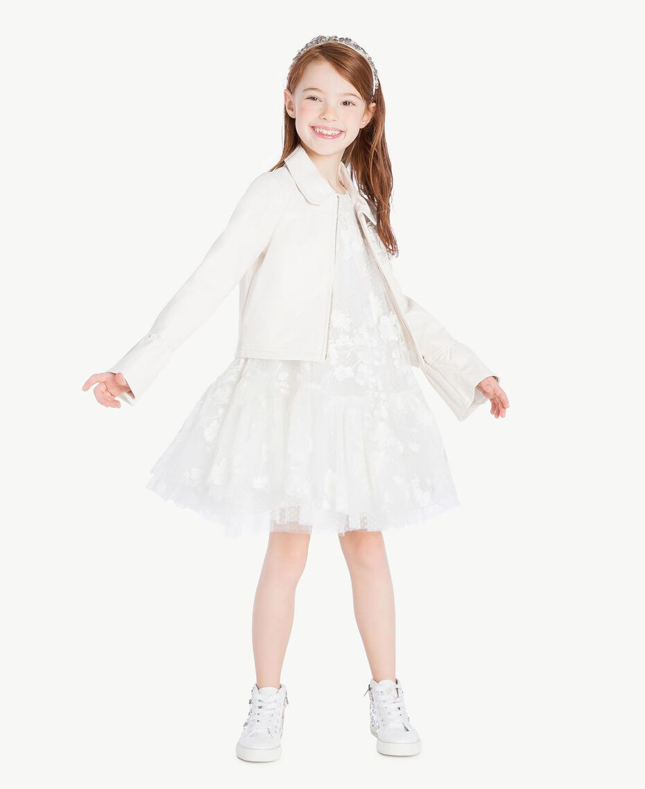 Embroidered jacket Pale Cream Child GS8LFN-06