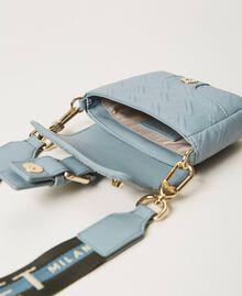 Small Rebel shoulder bag with logo Blue ash Woman 202TB7162-06