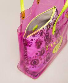 Beach bag with pochette Flirty Rose Multicolour Print Woman 201LB7GTT-05