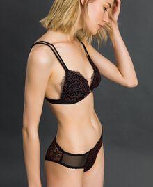 Culotte en dentelle bicolore Noir / Rose «Dolly» Femme 192LI6466-01