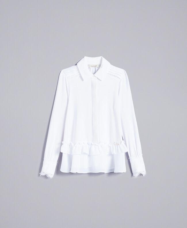 Chemise volantée en jersey Off White Enfant GA82HB-01