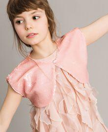 Boléro orné de sequins Rose En fleur Enfant 191GJ2Q71-04