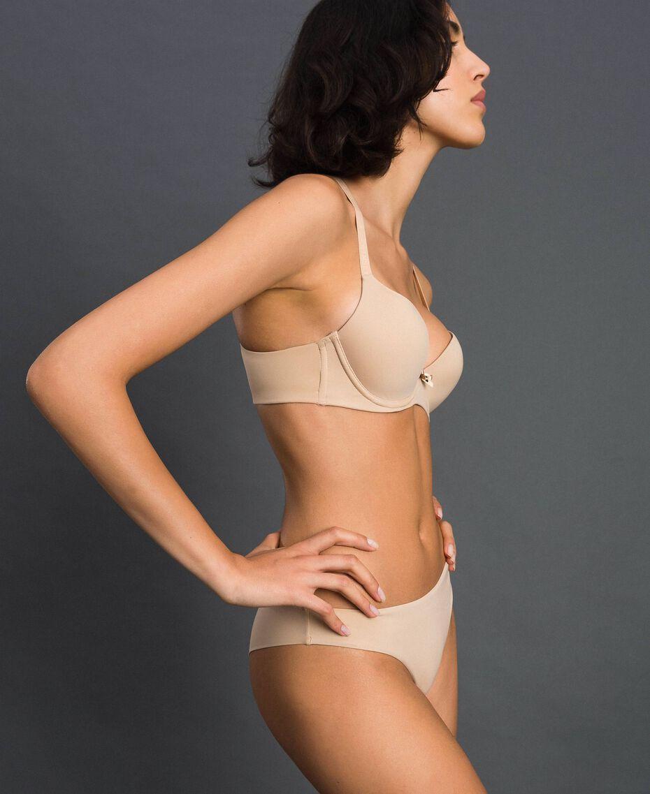 Culotte brésilienne avec nœud Rose Skin Femme LCNN77-02