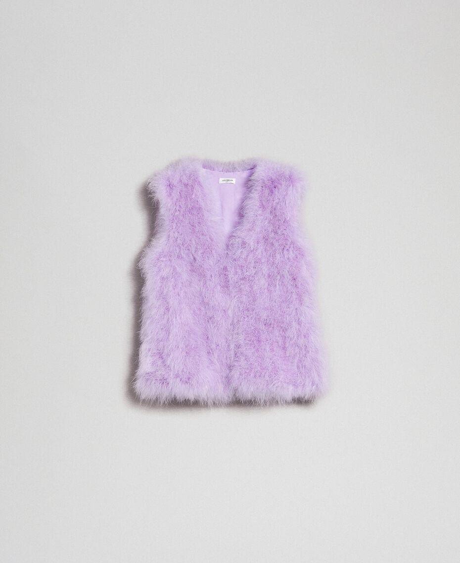 Gilet en plumes Violet «Glycine» Femme 192ST4790-0S