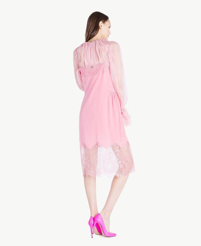 TWINSET Leather court shoe Hydrangea Pink Woman CS8PD1-06