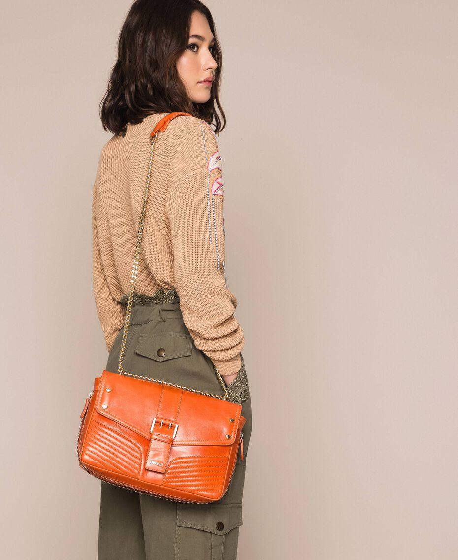 Кожаная сумка через плечо Rebel средних размеров Серый Титан женщина 999TA7233-0T