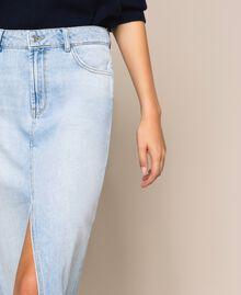 Jupe longue en jean Bleu Denim Femme 201MP2282-04