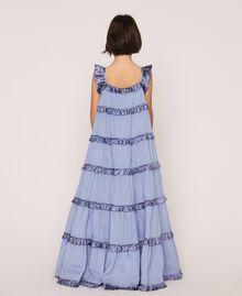 "Full-length muslin and satin gown ""Ice"" Dark Blue Child 201GJ2Q40-04"