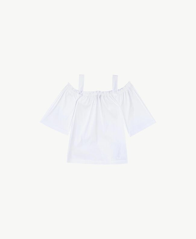 Poplin blouse White Woman BS8EMM-01