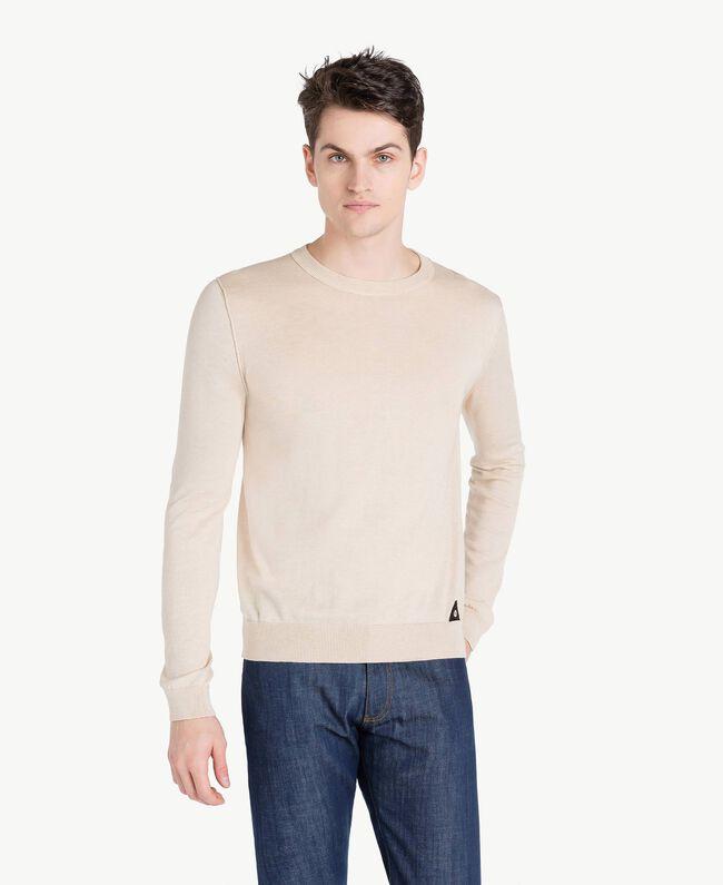 Cotton and cashmere jumper Beige Porcelain Man US831B-01