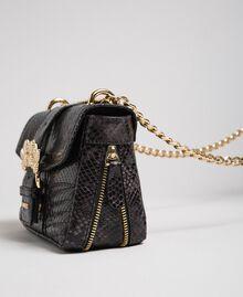 "Small Rebel shoulder bag with python print ""Anthracite"" Grey Python Print Woman 192TA7231-02"
