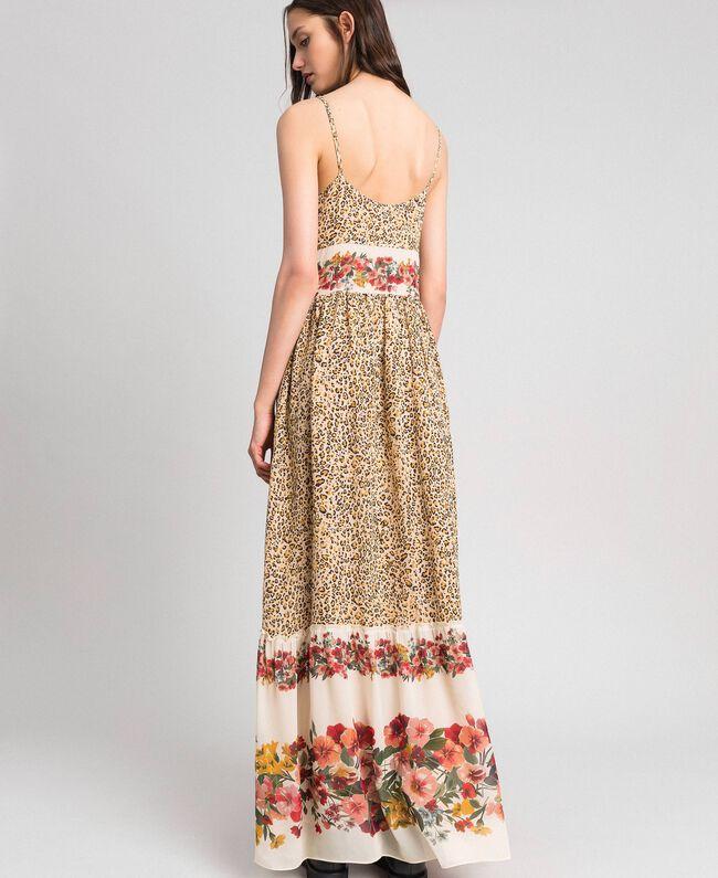 Robe longue avec imprimé animalier et floral Imprimé Léopard Femme 192TP2743-03