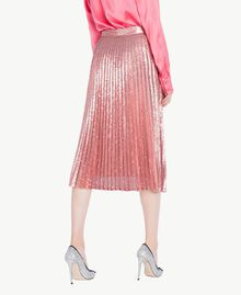 All over sequin skirt Hydrangea Pink Woman PS823V-03