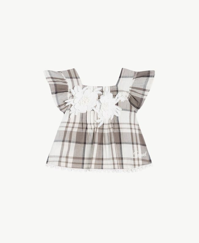 Check top Chantilly Jacquard Check / Smoke Grey Child FS82JA-01