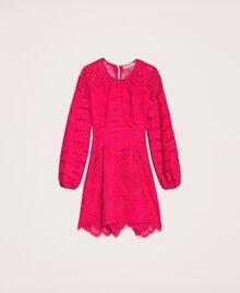 Macramé lace dress Black Cherry Woman 201TP2031-0S